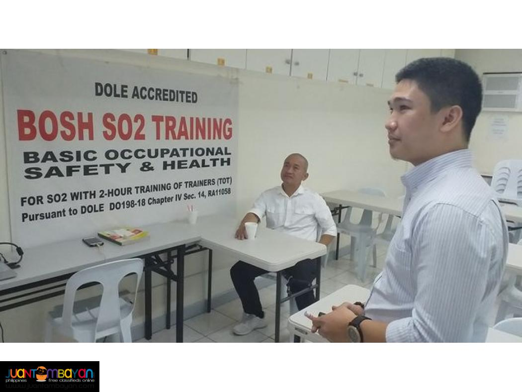 Online Bosh Training Quezon City Dole Accredited So2 Safety Officer