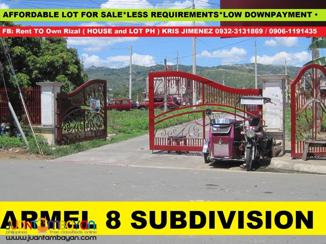 armel 8 subdivision affordable lot in san mateo rizal