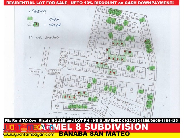 armel 8 subdivision affordable lot in san mateo rizal
