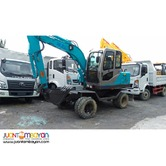 Jinggong JG80 Hydraulic Excavator  (.25 to .30 m3)  Wheel-Type