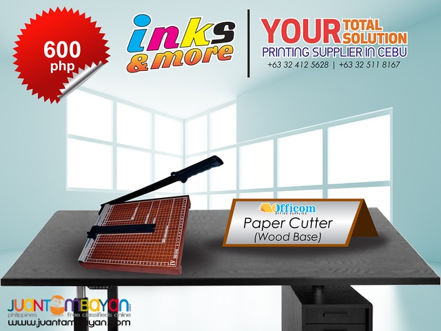 Personalized Printing Business - PAPER CUTTER WOOD BASE