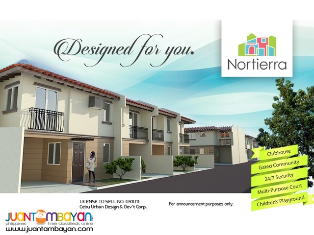 pre selling affordable townhouse pit os cebu city nortierra subd