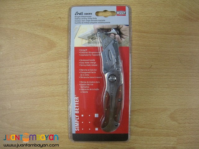 18139b32e24 Bessey D-BKWH Quick-Change Folding Utility Knife - Wood Grain Pasay