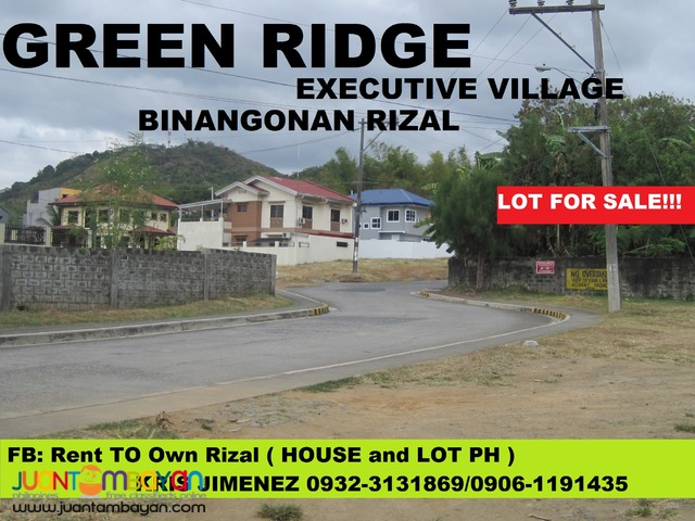 lot for sale in cainta VISTA VERDE COUNTRY HOMES