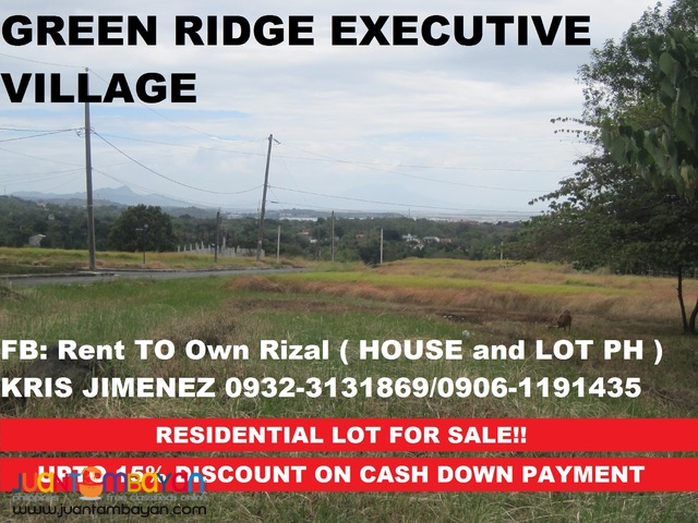 GREENRIDGE EXECUTIVE VILLAGE lot  upto 15% DISCOUNT on CASH DP