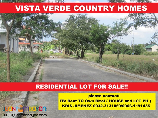 VISTA VERDE COUNTRY HOMES RESIDENTIAL LOT 20% DISCOUNT