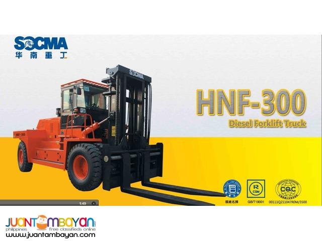 HEAVY FORKLIFT SOCMA HNF300 30 TONS