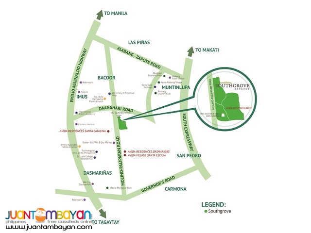 spacious 287 sqm Lot for sale in Southgrove Estates by Ayala