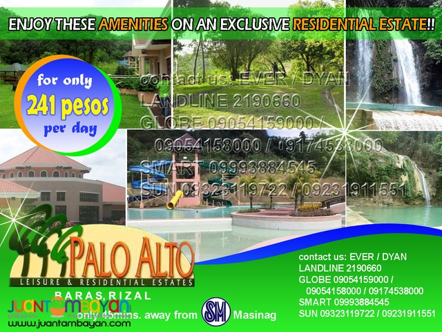 Palo Alto Residential Lots in Marcos Hiway Baras Rizal