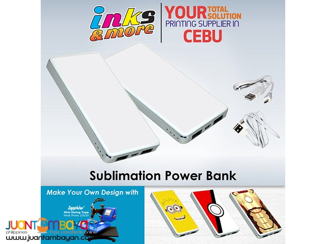 Personalized Printing Business Cebu - Sublimation Power Bank
