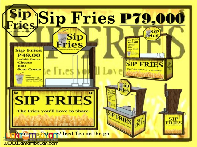 Sip Fries Food Cart Franchise Promo P99,000 Only!