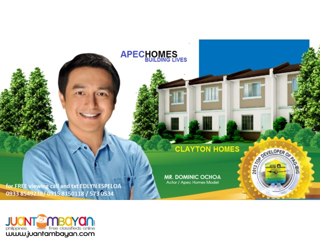 Affordable Rent to own Clayton Hills Loan thru Pag ibig House and lot