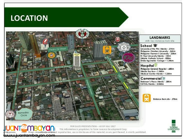 Studio Unit in Malate No Down Payment