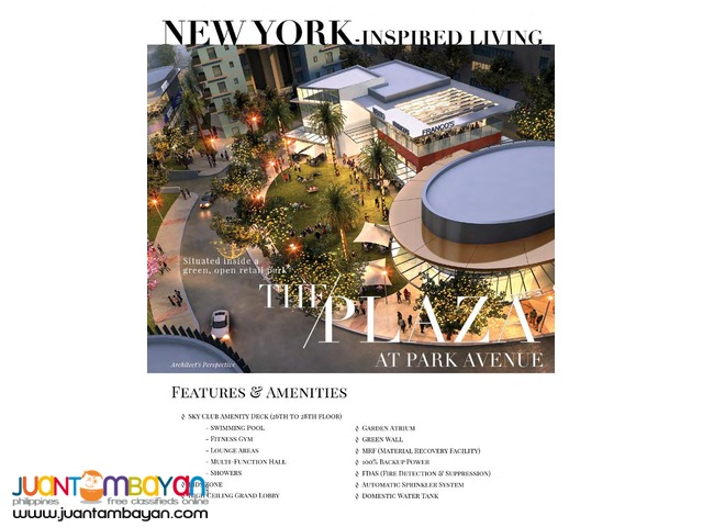 New-York Inspired Condo Living 38 Park Avenue IT Park Cebu