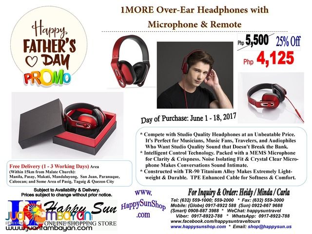 Father's Day - 1MORE Over-Ear Headphones