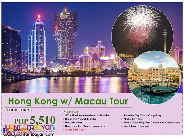 Hong Kong with Free Macau Package