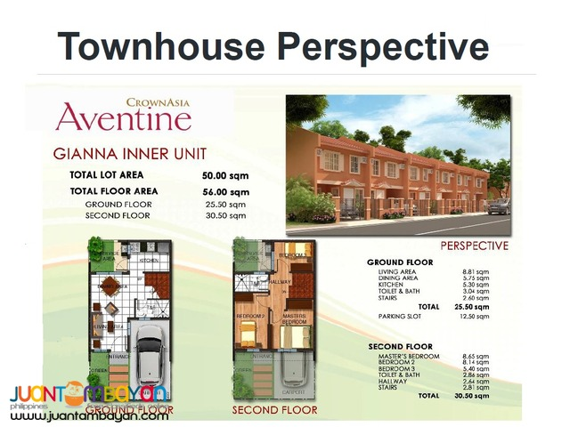 3BR PRE-SELLING TOWNHOUSE IN TAGUIG AVENTINE DEVELOPER VISTA LAND INC