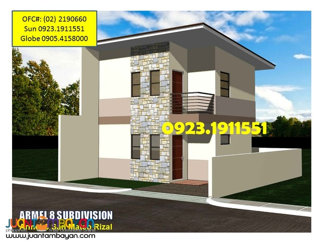 House for Sale in Banaba SanMateo ARMEL 8 Subdivision near SM