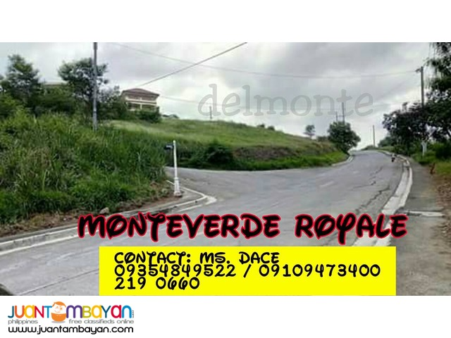MONTEVERDE LOT FOR SALE IN TAYTAY OVERLOOKING WITH LAGUNA LAKE
