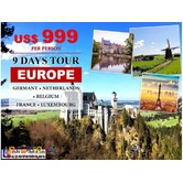 9 Days Fascinating Europe Tour