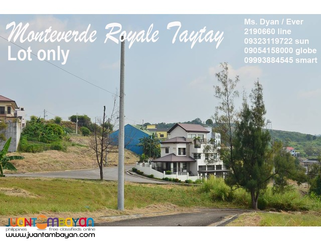 Monteverde Royale Lot for Sale Taytay Overlooking Club Manila East