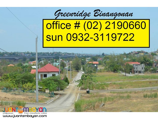 Sta Lucia Lot for Sale in Binangonan Greenridge Subdivision