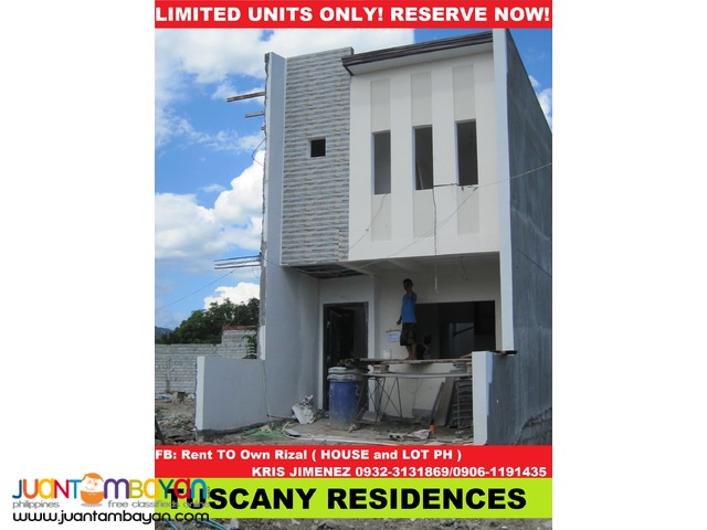 FOR SALE TOWNHOUSE NEAR MARIKINA and QC TUSCANY residences