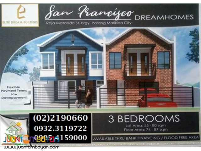 San Francisco Homes House Lot for Sale n Concepcion Marikina Church