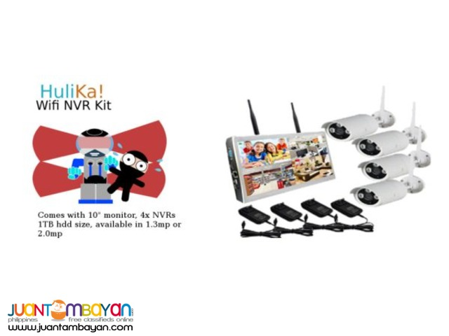 Hulika 4 Channel Wifi NVR Kit
