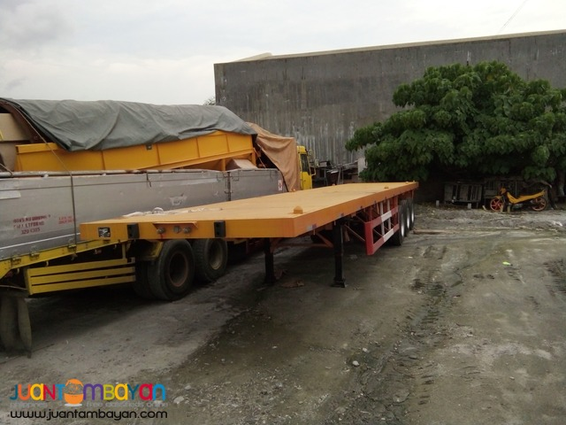 brand new tri axle lowbed semi trailer 60 tons