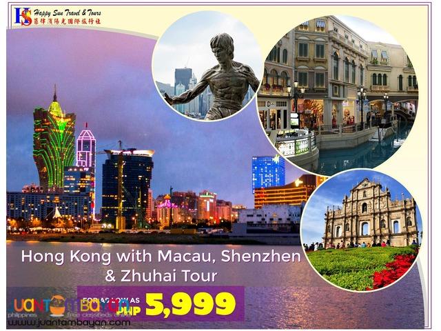 Hong Kong Tour with Macau, Shenzhen & Zhuhai Tour