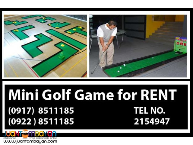 Mini Golf- other event services Rent Hire Manila Philippines