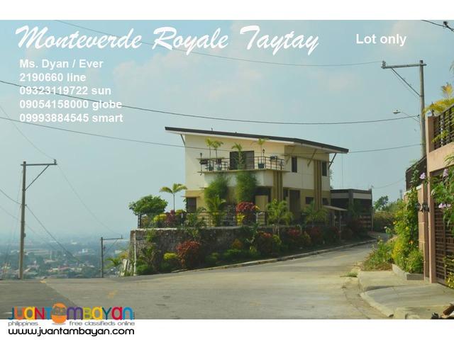 Monteverde Royale Lot Sale n Taytay Overlooking near Club Manila East
