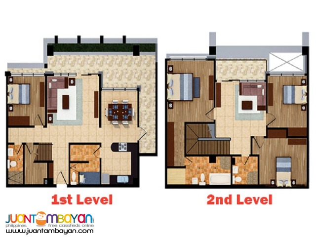 READY TO OCCUPY 230 sqm bi level penthouse fronting Ayala Cebu