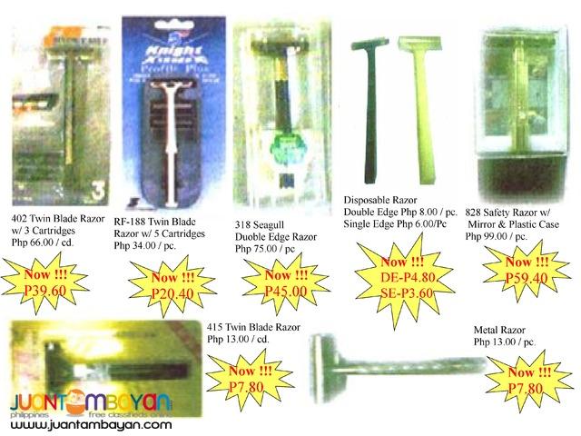 Body care Twin blade razor Safety razor with mirror