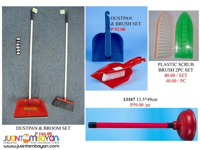 Dustpan Broom Magic Duster Window Washe Rubber Plunge Mop Head
