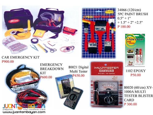 Car emergency kit Brass padlock Auto sun shade Cable organizer