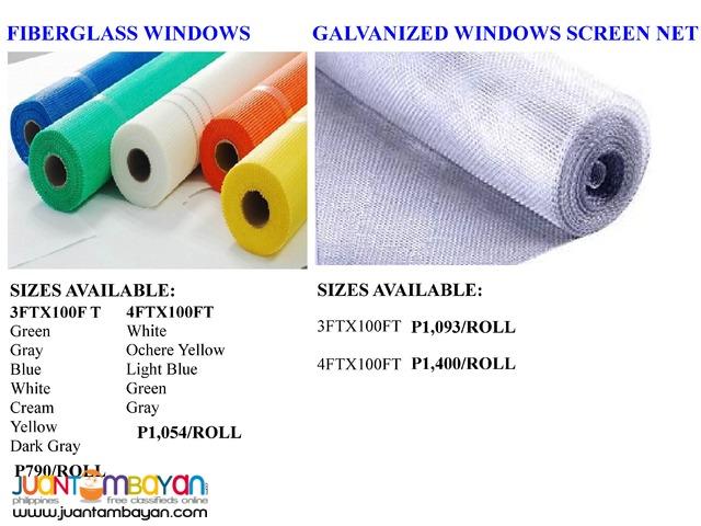 Stainless Steel Aluminum Galvanized Fiberglass Window Screen Net