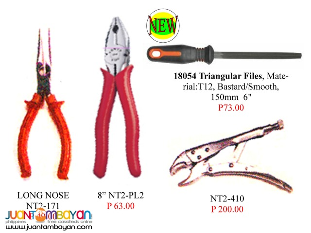 Hardware Tools Set Electroscope Plier Long Nose Triangular Files