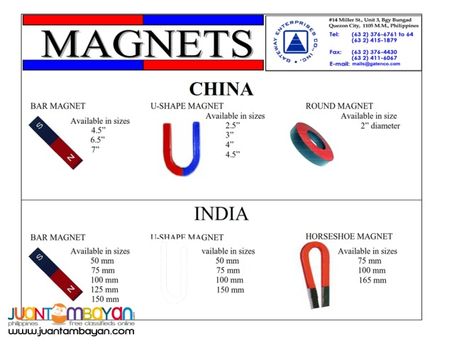 Shaped Magnets