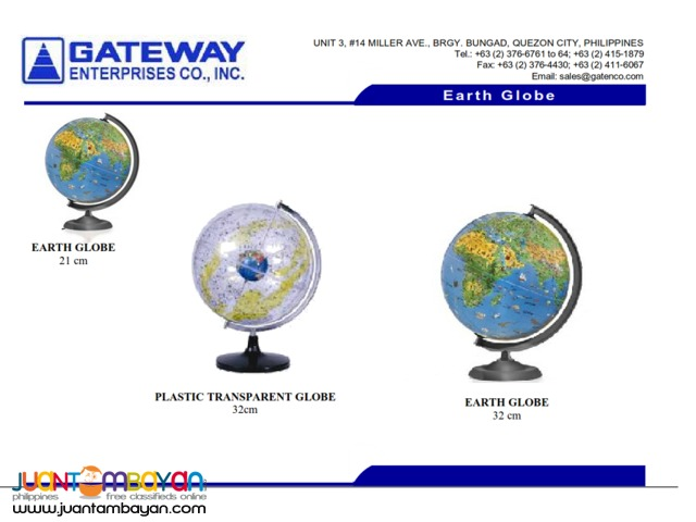 Earth Globe World Globe 21cm 32cm