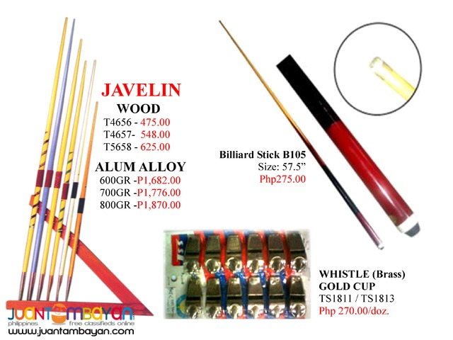 Key chain Billiard Accessories and Whistle Javelin