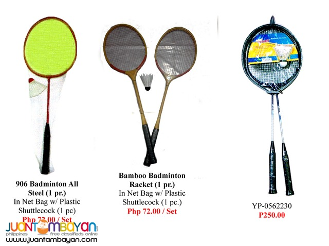 Badminton Equipment Rackets and Shuttle Cock