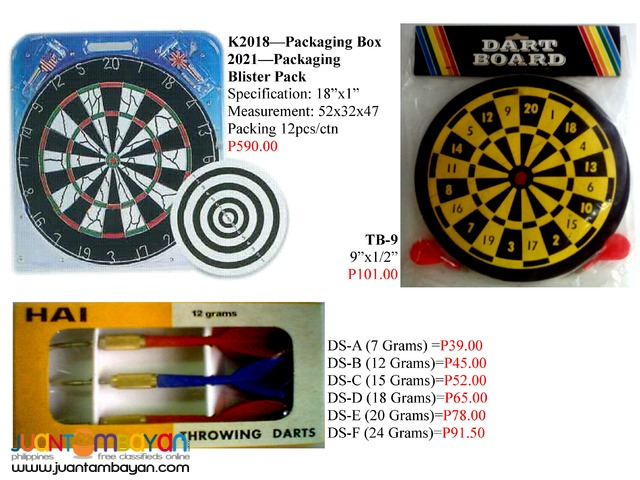 Dart Pin and Dart Boad - Sporting goods