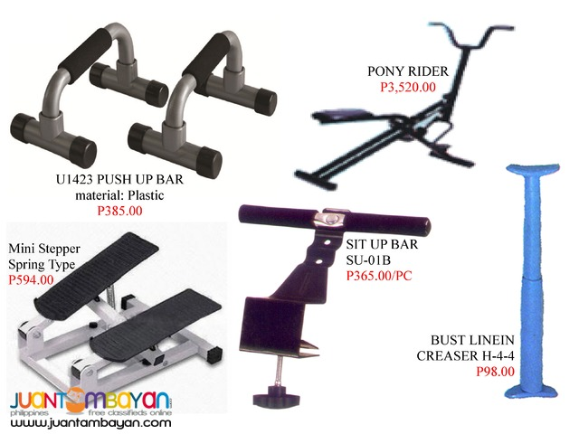 Sit up bar Pony rider Body trimmer Push up bar Mini stepper
