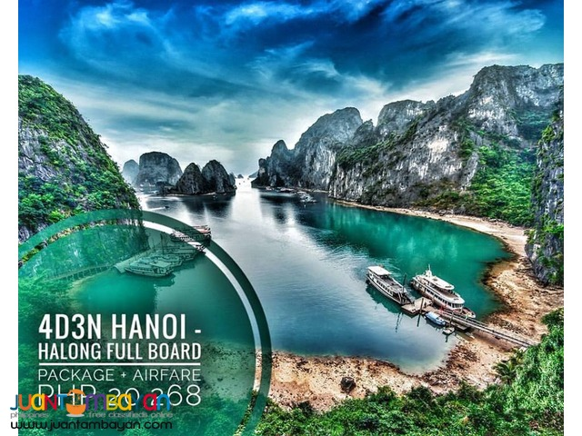 4D3N HANOI with OVER NIGHT HALONG BAY FULL BOARD PACKAGE + AIRFARE