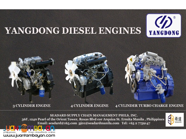 YANGDONG DIESEL ENGINES FOR GENERATOR | Manila | Seadard Philippines