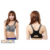 Front Zip Racerback Sports Bra