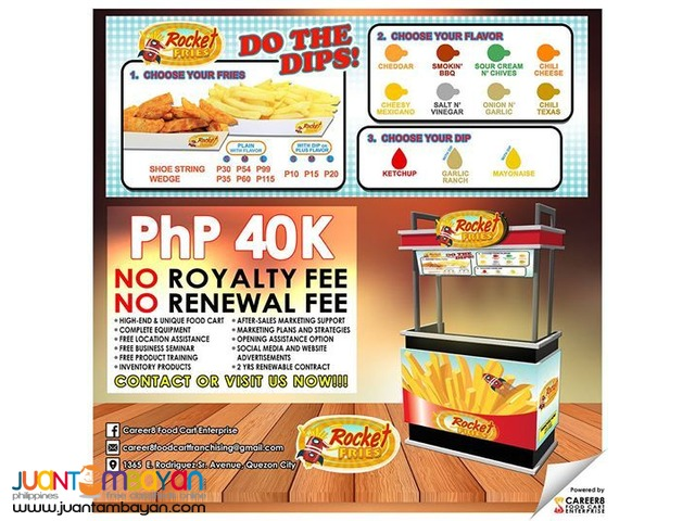food cart franchise, rocket fries, flavored fries, triple A fries