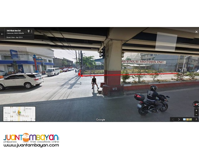 commercial lot for lease Rizal Ave. Caloocan City